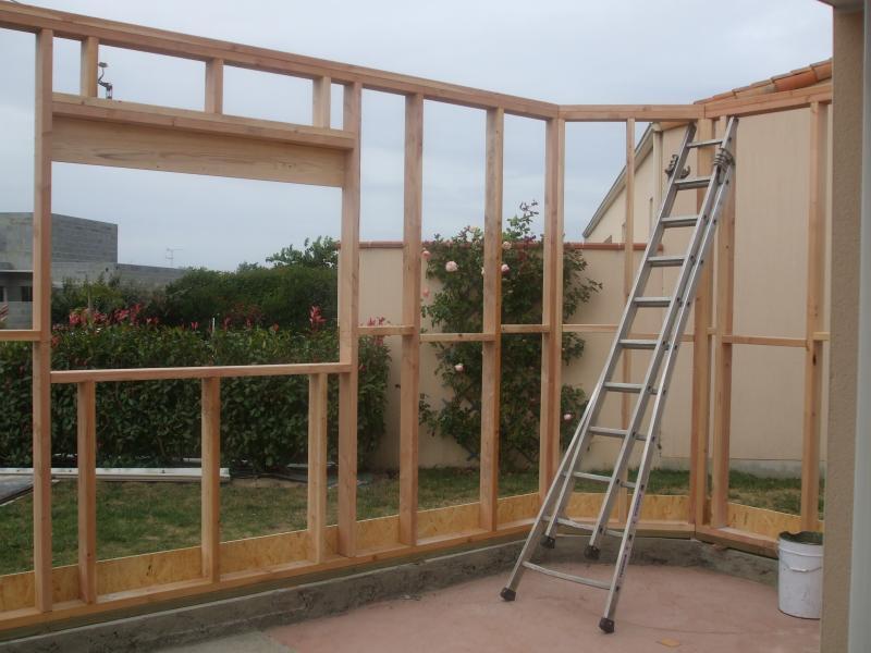 Extension maison metallique extension ossature bois sur for Extension maison ossature metallique